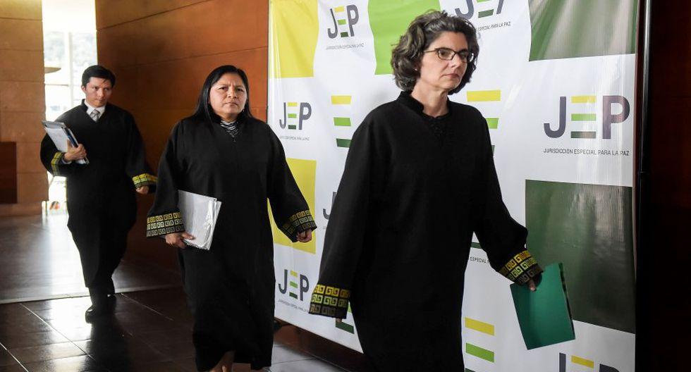 Los magistrados citaron a esta primera diligencia de reconocimiento a 31 responsables de las ya disueltas FARC. (Foto: AFP)