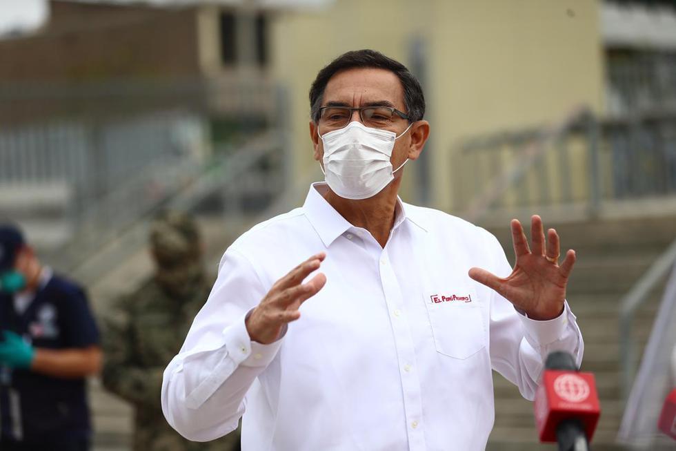 El mandatario agradeció al personal de salud por su labor en la pandemia. (Foto: HugoCurotto/GEC)