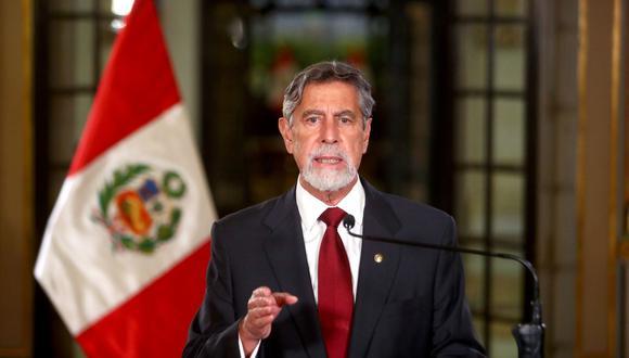 El presidente Francisco Sagasti aseguró que las empresas que producen vacunas, por lo general, solo negocian con un solo representante por país. (Archivo / Presidencia de la República).