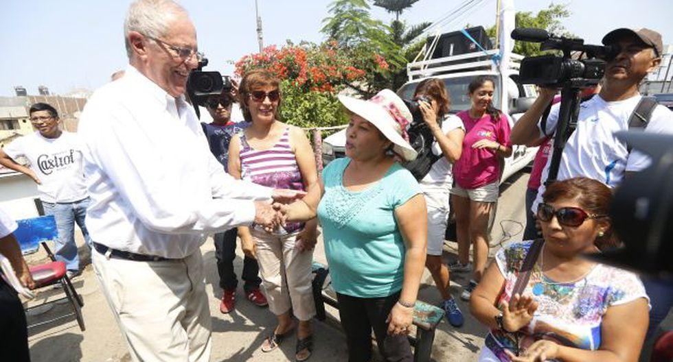 Pedro Pablo Kuczynski iguala en el segundo lugar de las encuestas con Verónika Mendoza. (Mario Zapata)