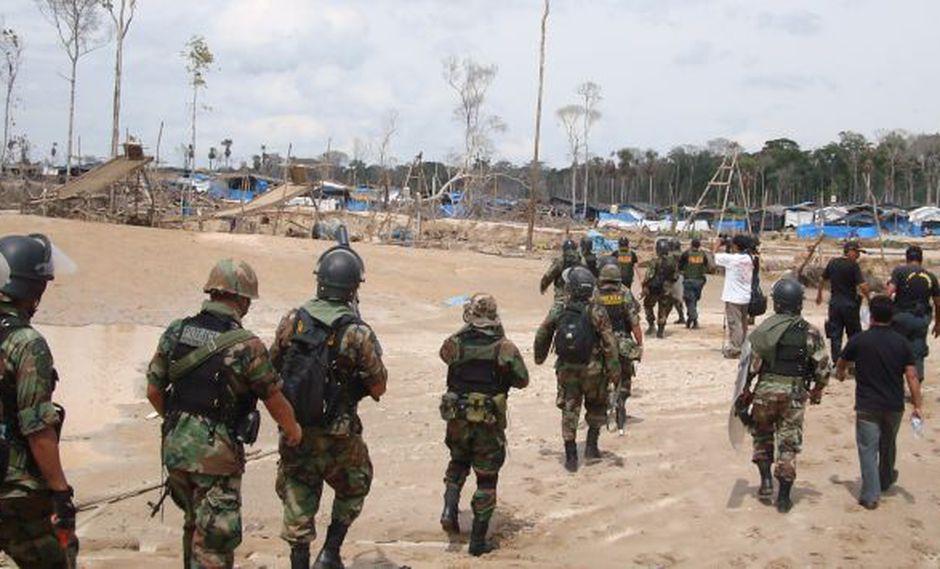 Los militares han realizado intervenciones en Madre de Dios para erradicar la minería ilegal. (Difusión)