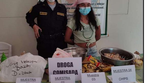 Melisa Sernaque (21) fue detenida por el presunto delito de tráfico ilícito de drogas. (Foto: PNP)