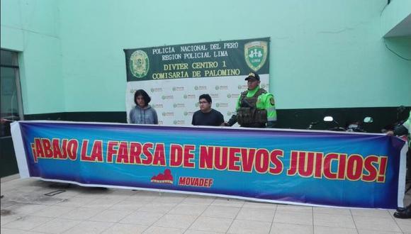 Bryan Franco y Eliot Flores fueron detenidos el 28 de agosto pasado.