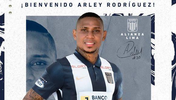 Arley Rodríguez se convirtió en nuevo refuerzo de Alianza Lima. (Foto: Alianza Lima)