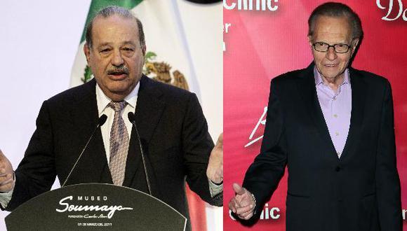 Slim y King se unen para una aventura televisiva en Internet. (Reuters/AP)