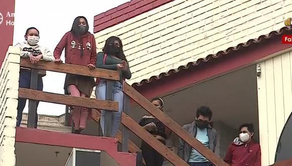 Municipalidad de Megatoni informó que el grupo de 14 miembros de comunidades nativas serán trasladados. (Captura: América Noticias)