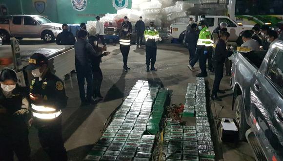 Junín: policía incauta droga líquida y ladrillos de cocaína de alta pureza (Foto: PNP).