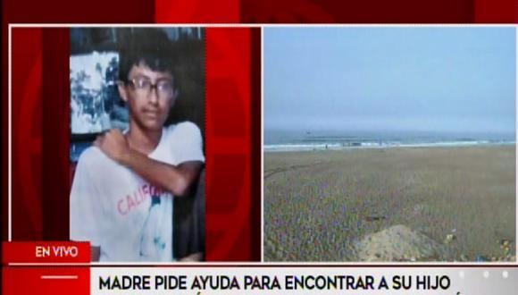 Madre pide ayuda para buscar a su hijo que se habría ahogado en Conchán.