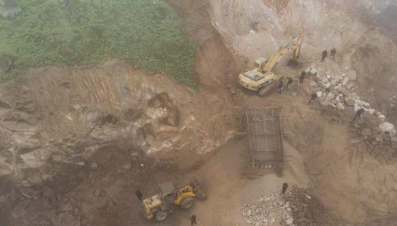 Las Lomas de Mangomarca se han visto afectadas por las excavaciones de maquinaria pesada. (Foto: Municipalidad de Lima)
