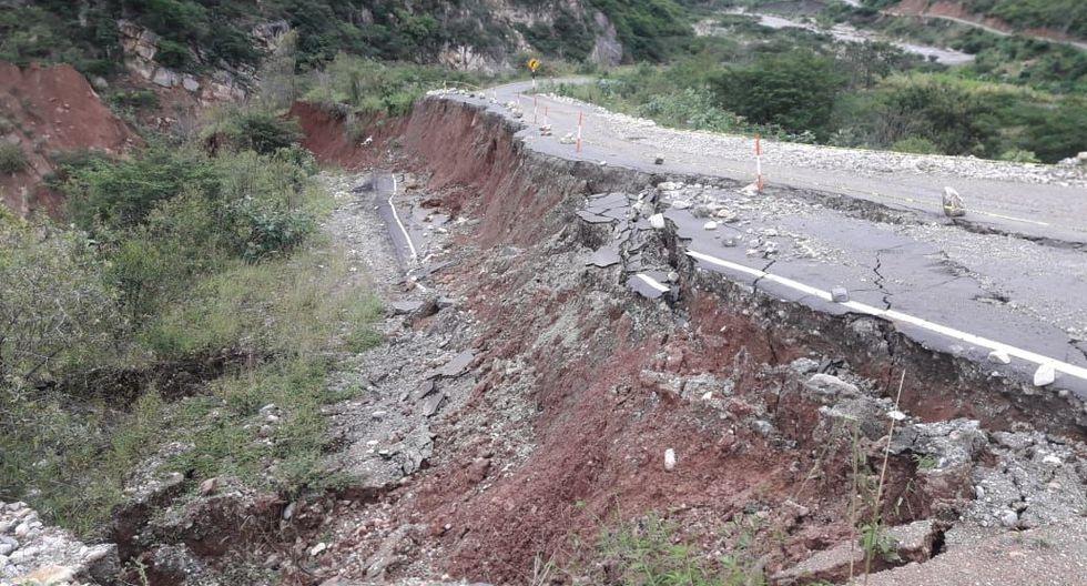En la provincia de Pataz, el aumento del caudal del río Anchique provocó el derrumbe de 100 metros de la vía a Huancaspata.