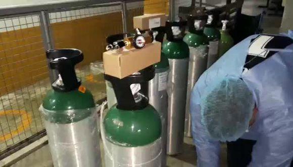 Huánuco: entregan 45 balones de oxígeno medicinal en Tingo María (Foto referencial).