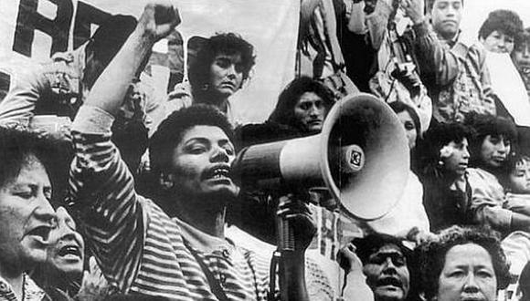 María Elena Moyano, una voz contra Sendero Luminoso que no se olvida (Foto: Archivo El Comercio)
