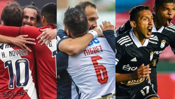 Los saludos de los clubes peruanos por los 200 años de independencia del Perú. (Foto: Universitario / Alianza Lima / Sporting Cristal)