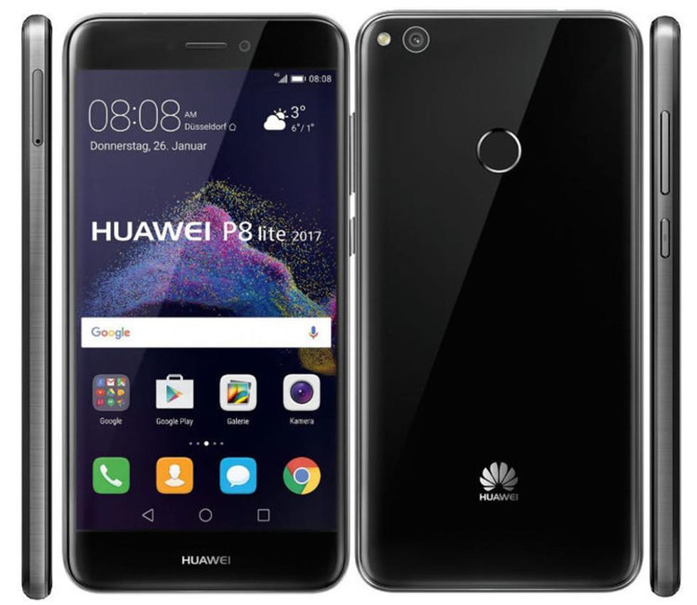 Huawei P8 Lite: Huawei tiene muy buenos teléfonos, y uno de los más populares es este. Su modelo de 2017 es algo más potente, tiene mejor cámara y una pantalla con algo más de resolución. (Huawei)