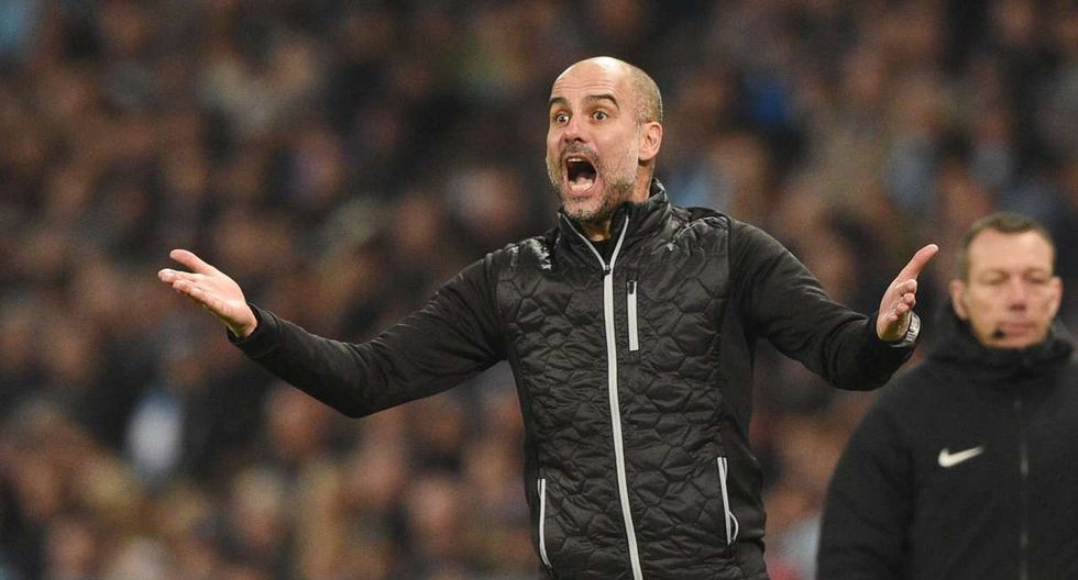 Pep Guardiola y Manchester City jugará nante Real Madrid en octavos de la Champions League. (Foto: AFP)
