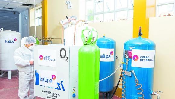 La planta de oxígeno fue construida por Kallpa Generación con la asesoría del Gobierno Regional de Huancavelica (Kallpa Generación).