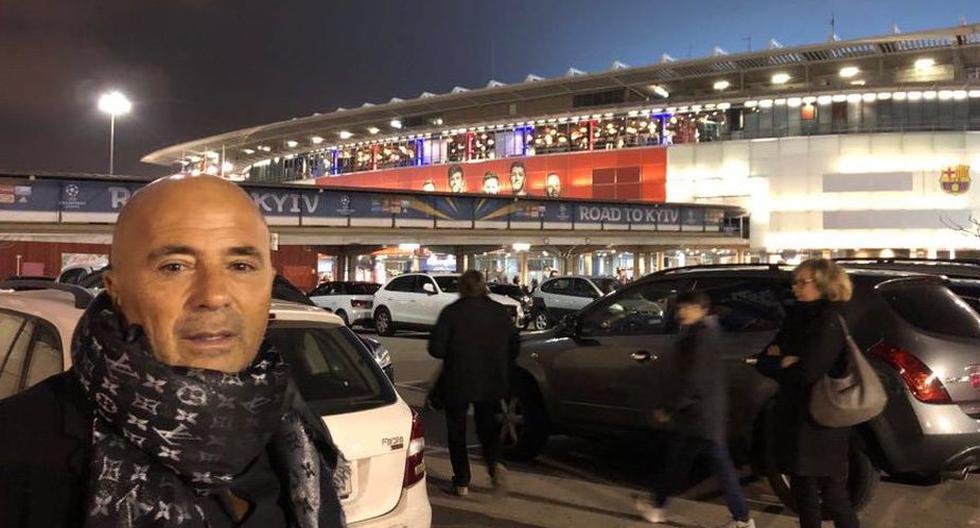 Jorge Sampaoli asistió al partido entre el Barcelona vs. Chelsea.