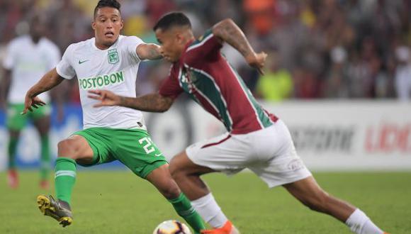 Atlético Nacional vs. Fluminense: chocan por el pase a octavos de final de la Copa Sudamericana. (Foto: AFP)