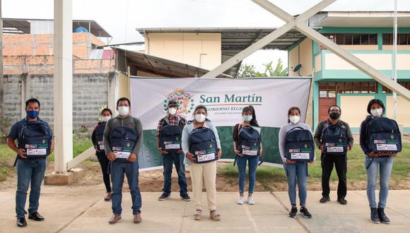 San Martín: entregan 150 mochilas comunitarias a comunidades nativas para protegerse del COVID-19 (Foto: Gore San Martín)