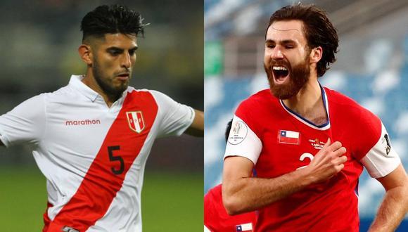 Perú y Chile se alista para enfrentarse para las Eliminatorias Qatar 2022. (Foto: AFP)