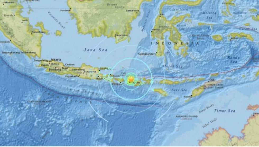 Terremoto sacudió la costa norte de la isla indonesia de Lombok. (Difusión)