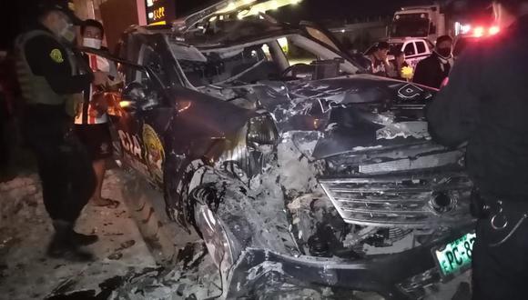 Chiclayo: policía muere y otro queda herido tras chocar patrullero en presunta persecución.