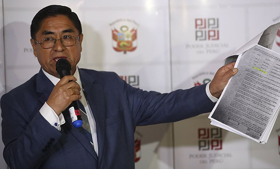 César Hinostroza fue suspendido indefinidamente sin goce de haber por el CNM. (Foto: Geraldo Caso / Perú21)