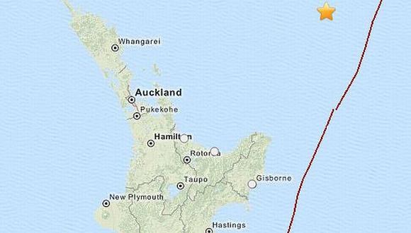 Terremoto de 6,1 grados sacudió las islas Kermadec, en Nueva Zelanda. (USGS)