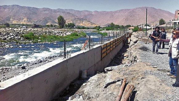 Muros. Su uso como defensa ribereña ahorraría entre 25% y 30% de recursos del Estado. (USI)