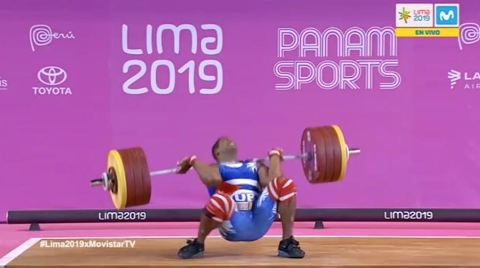 Levantamiento de pesas Lima 2019: Cubano Juan Columbié asustó a todos tras caer con pesa de 211 kilos (MovistarDeportes)