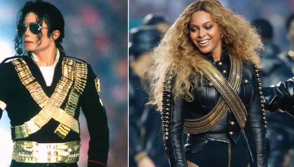 Beyoncé homenajeó a Michael Jackson durante el Super Bowl (Getty)