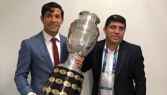 Matías Fernández entregará la Copa América al ganador del Perú-Brasil. (Foto: Instagram)