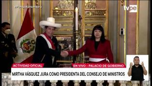 Presidente de la República toma juramento a Mirtha Vásquez como nueva titular de la PCM