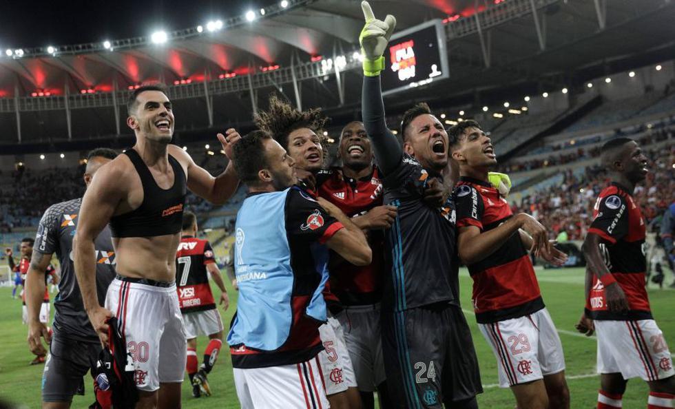 Flamengo clasificó a la semifinal de la Copa Sudamericana tras empatar 3-3 contra Fluminense. (Reuters)