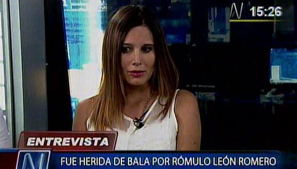 Carla Matto, mujer baleada por Rómulo León hijo, afirmó que disparo no fue accidental. (Canal N)