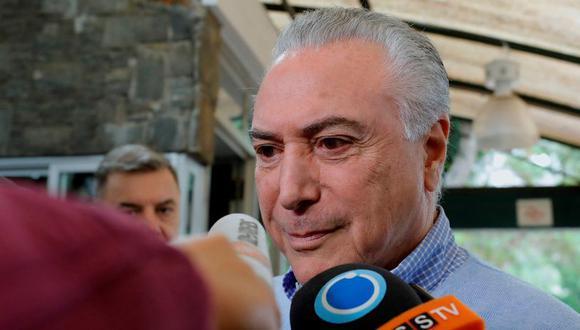 El presidente de Brasil, Michel Temer, votó en la mañana de este domingo en Sao Paulo durante las elecciones del país para elegir a su sucesor. (Foto: EFE)