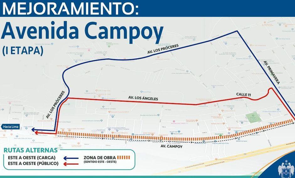 La Municipalidad de Lima informó sobre el cierre de la avenida Malecón Checa por trabajos de mejoramiento. (Difusión)