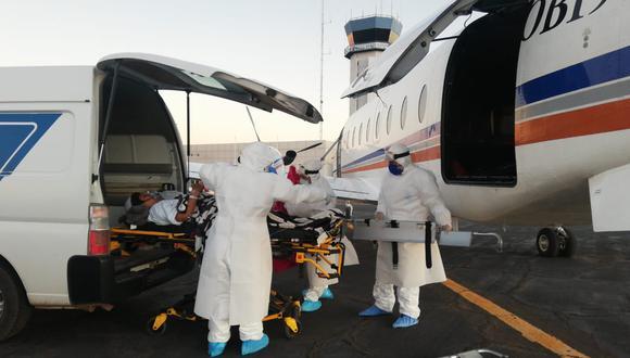 El avión llegó con los pacientes al aeropuerto Internacional Jorge Chávez a las 8:00 p.m. de ayer y se procedió con la evacuación en ambulancias a los Hospital de Ate, Almenara, Rebagliati y Sabogal.