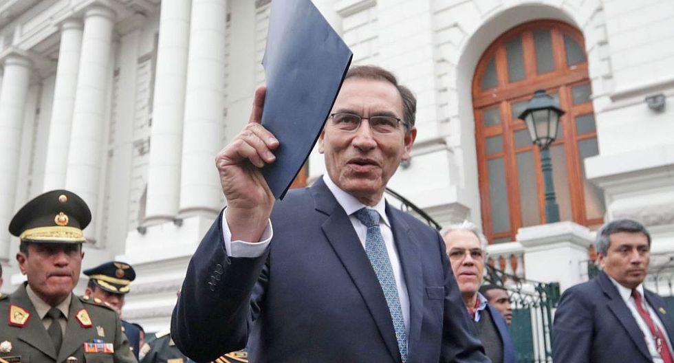 El presidente Martín Vizcarra presentó los proyectos de ley para una reforma política ante el Congreso. Su propuesta es que sean sometidos a un referéndum. (Foto: Andina)