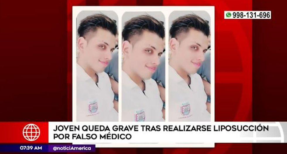 Falso médico cirujano en el Rímac. (Foto: Captura América Noticias)
