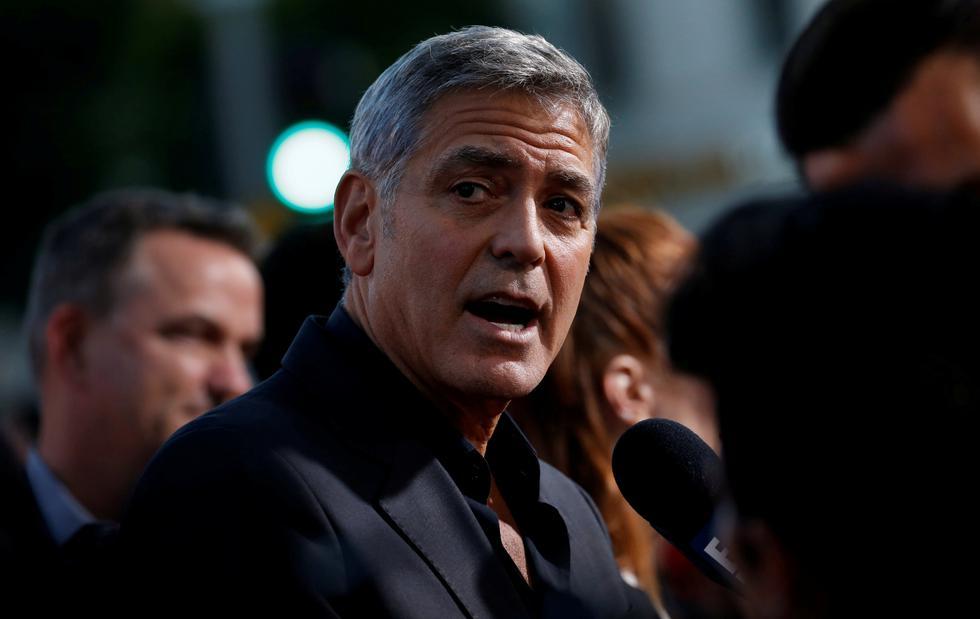 George Clooney sufrió accidente en moto durante rodaje en Italia. (Reuters)