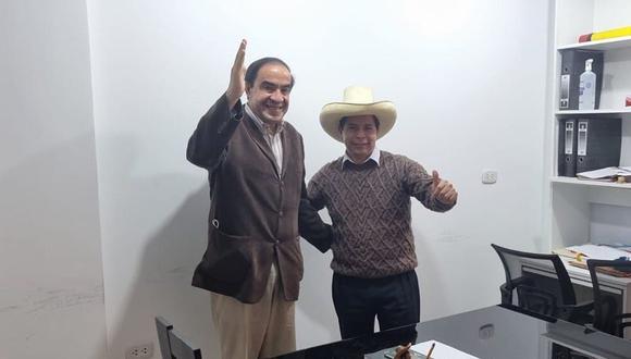 Yonhy Lescano se reunió por más de una hora con Pedro Castillo. (Foto: Twitter Yonhy Lescano)