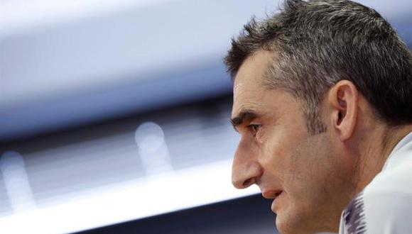 """Ernesto Valverde argumentó que """"las cuestiones internas son internas"""". (Foto: EFE)"""