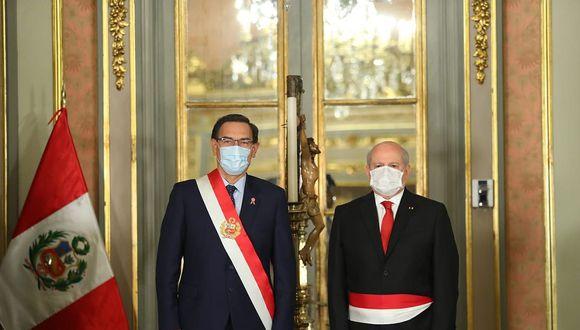 EL ÚLTIMO AÑO. El carácter confrontacional de Pedro Cateriano podría ser la peor traba para los objetivos finales de Martín Vizcarra. (Foto: Difusión)