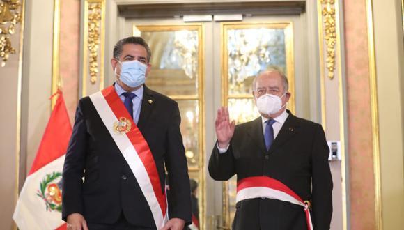 Manuel Merino y Ántero Flores-Aráoz fueron denunciados por la muerte de dos jóvenes en la Segunda Marcha Nacional. (Foto: Presidencia)