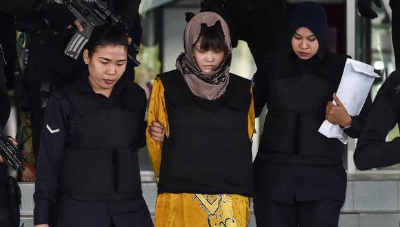 Involucradas afrontan la pena capital en caso de ser halladas culpables del suceso que Corea del Sur atribuyó a agentes norcoreanos. (Foto: AFP)