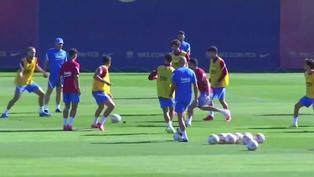 Mira el entrenamiento del FC Barcelona para el partido ante el Granada