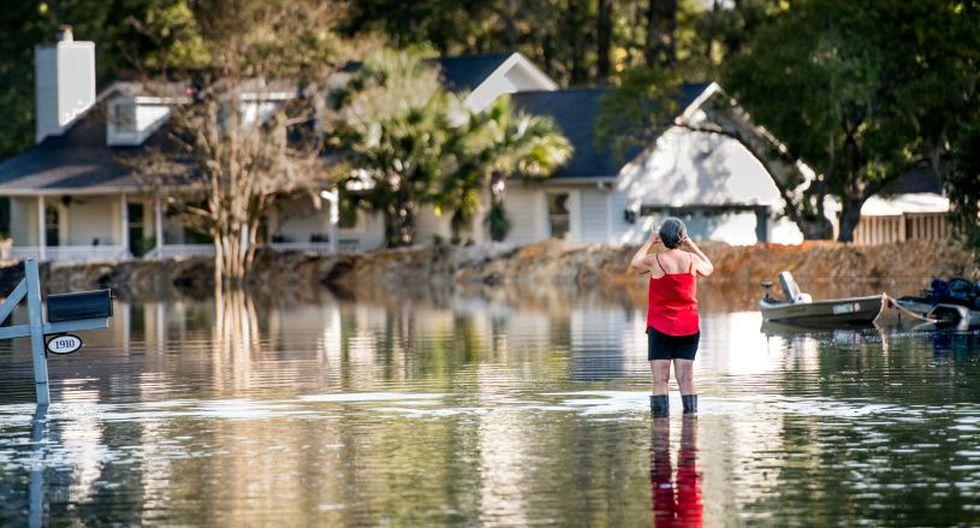<br>Persisten inundaciones por el huracán Florence en las Carolinas | Foto: AFP