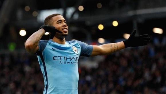 Gabriel Jesús firmó un nuevo contrato con Manchester City y seguirá luciendo su fútbol en la Premier League. (Foto: AFP)