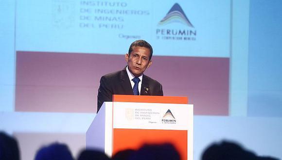 Humala durante su discurso de cierra en Perúmin. (Andina)